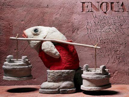 Pócs Péter: ENQUAENQUA Környezet és Minőség Szolgálat Kft. (2003, offset, 84,5 x 111,5 cm)